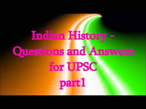 Indian History - Question & Answer for all competitive exam