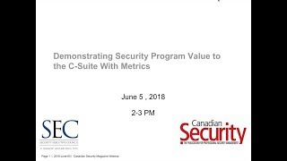 WEBINAR: Demonstrating Security Program Value to the C suite With Metrics