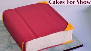 Making a Book Cake
