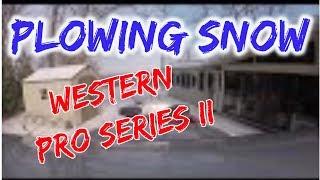 Plowing snow - Western Pro Plus II commercial snow plow