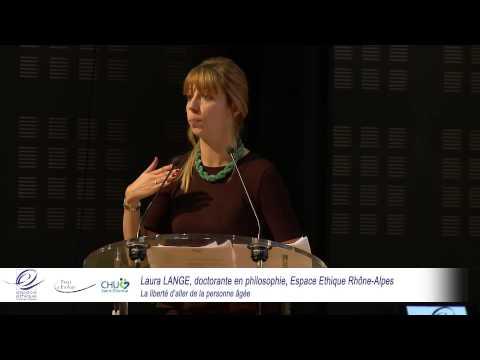 """Conférence  """"La liberté d'aller de la personne âgée"""" - Laura Lange"""