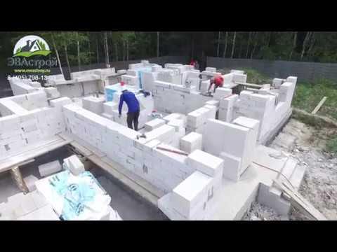 Строительство двухэтажного дома с террасой, балконом и гаражом