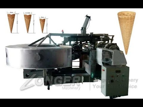 Automatic Waffle Cones Making Machine|Industrial Sugar Cone Machine