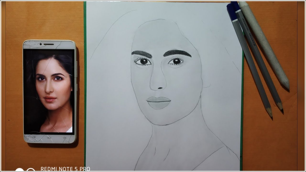 Katrina kaif draw how to draw katrina kaif step by step