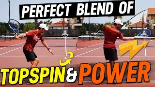 Forehand Lesson: Perfect Blend of Topspin and Power