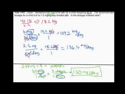 Pediatric Dosage Calculations by Weight (Part 1: Is an Order 'Safe'?) from YouTube · Duration:  11 minutes 59 seconds