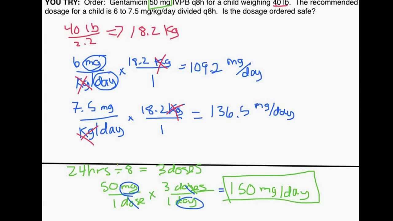 Pediatric Dosage Calculations by Weight Part 1 Is an Order Safe – Dosage Calculation Worksheets