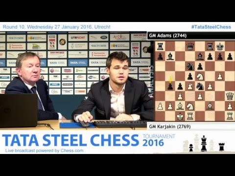 Magnus Carlsen post game with Anish, Analysis the tournament - Tata Steel Chess 2016