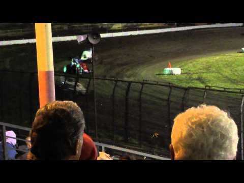 Silver Dollar Speedway   USAC Feature 3/11/11-Part 4