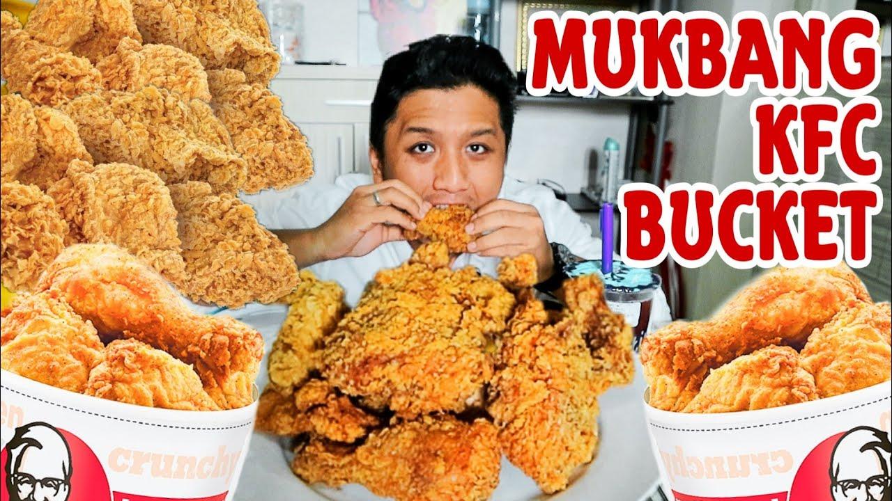 MUKBANG KFC BUCKET 9 AYAM (SEDIKIT ASMR) - YouTube