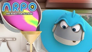 ARPO The Robot For All Kids - Paint Panic | Compilation | Cartoon for Kids Video