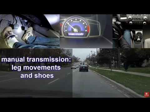manual transmission: leg movements and shoes