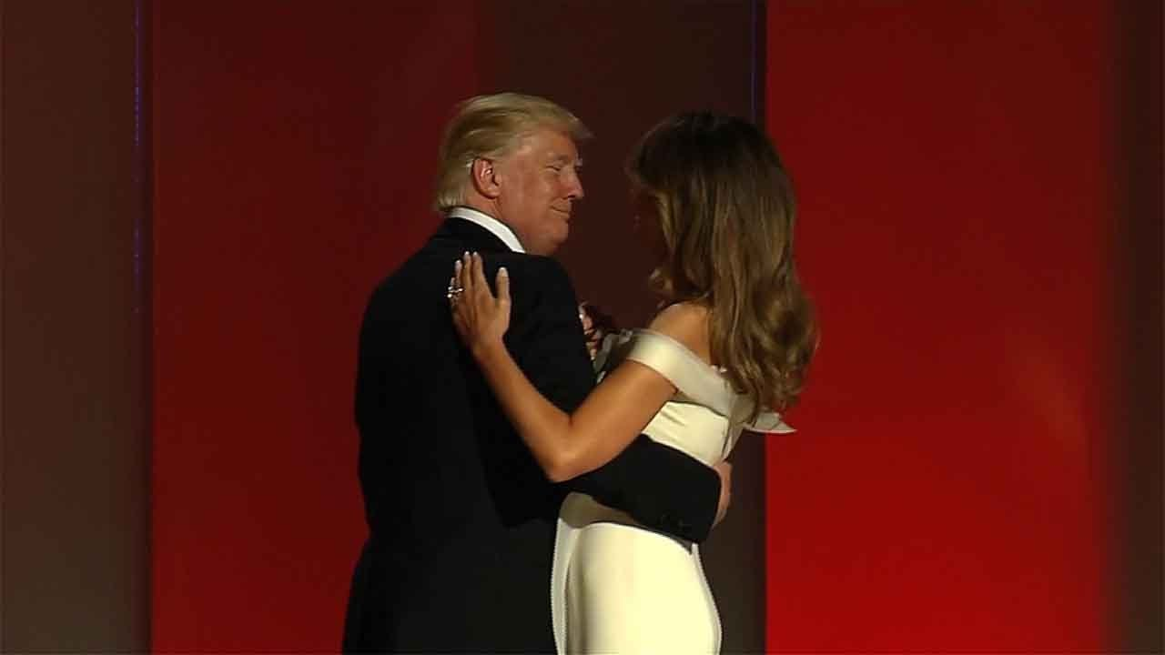 donald and melania trumps first dance at inauguration
