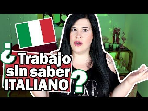 TRABAJO en ITALIA ¿Es posible trabajar sin saber italiano? | Trabajos en Italia para españoles