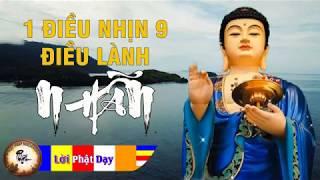 1 Điều Nhịn 9 Điều Lành - Lời Phật dạy về chữ NHẪN cực hay Nghe mỗi đêm ngủ ngon vạn sự thuận lợi