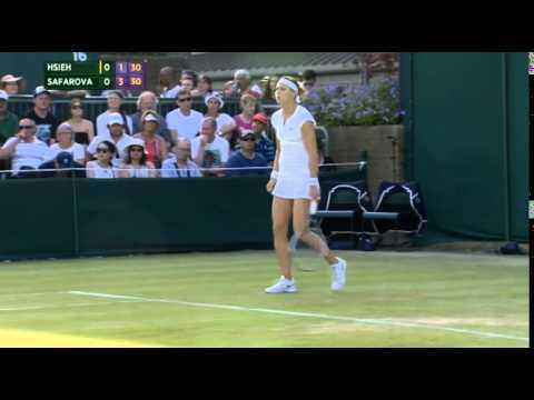 2015Wimbledon ladies' singles - second round Suwei Hsieh VS Lucie Safarova