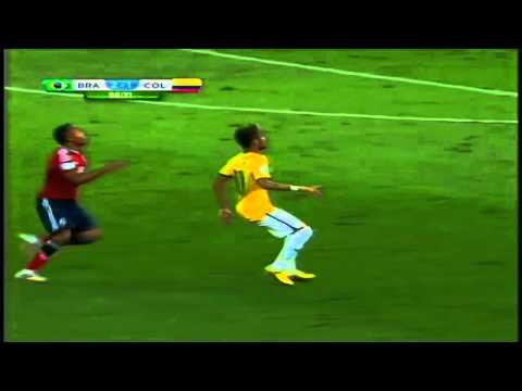Zuñiga lesiona a Neymar