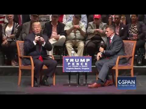 Donald Trump & Lt Gen Michael Flynn Veterans Affairs. Virginia Beach FULL Speech 9/6/16