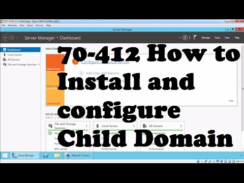 How To Create Child Domain On Windows Server 2012 R2