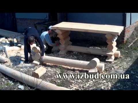 Мебель для сада деревянные столы стулья из массива и лавки для дачи под старину своими руками
