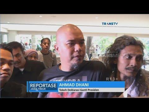 "Banser Tuntut Ahmad Dhani, Ratusan Massa Bakar Kaos ""Ganti Presiden"" di Surabaya"