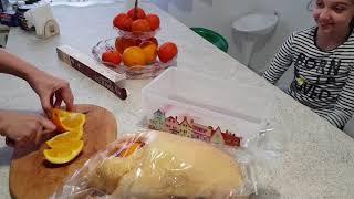Мариную новогоднюю утку в апельсинах, проблемы с размером утки