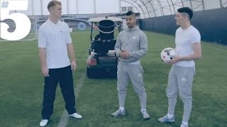Joe Hart  The F2 Freestylers ft Crossbar challenge  Scorpion kick