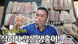 삭히지않은 생홍어는 무슨맛일까요? 먹어봤습니다! Eat…