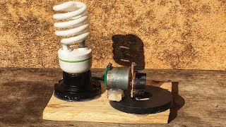 New science electric free energy generator with light bulb 220 v & dc motor for 2019