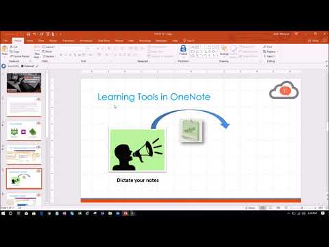Take presentation notes in OneNote 2016!