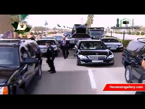 Saudi King Abdullah Return to Kingdom 2011 خادم الحرمين الشر