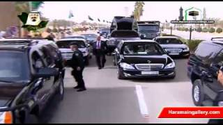 Saudi King Abdullah Return to Kingdom 2011 خادم الحرمين الشريفين