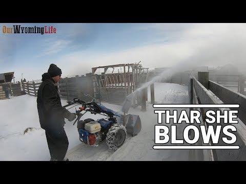 The BCS Snow Thrower / Blower