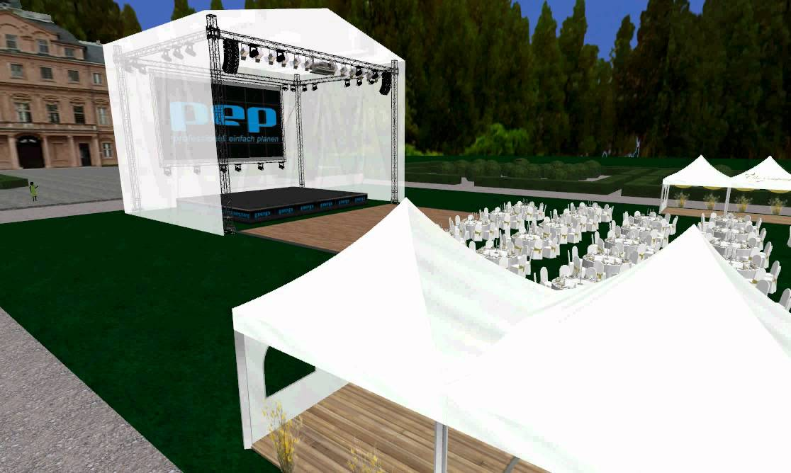 Corporate event in park 3d virtual tour event mockup for 3d wedding design software