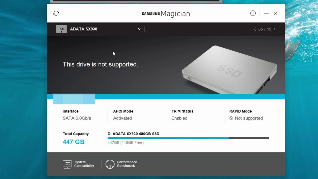 SAMSUNG 500GB SSD Series 850 Evo (MZ-75E500B) – SAMSUNG MAGICIAN 5.2.0
