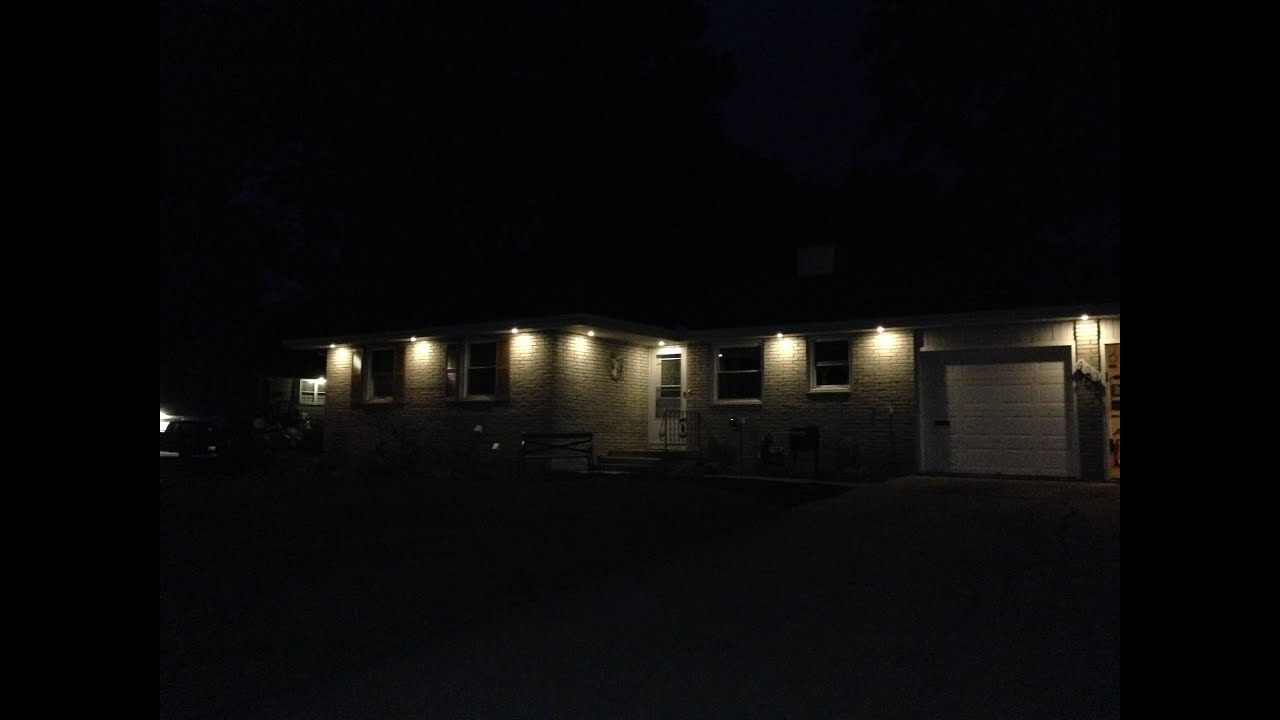 under eave lighting. Add Soffit Lights To Your Home (retrofit) Under Eave Lighting