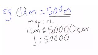 Map And Simple Conversion Scale Converting