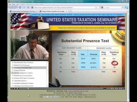 United States Tax Law Seminars - Be knowledgeable and aware of your rights as a taxpayer.