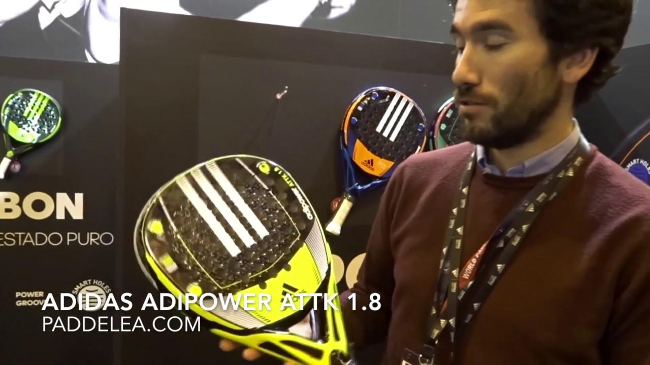 Fusión melocotón Reflexión  Pala de padel potencia: Adidas Adipower Attack 1.8 - YouTube