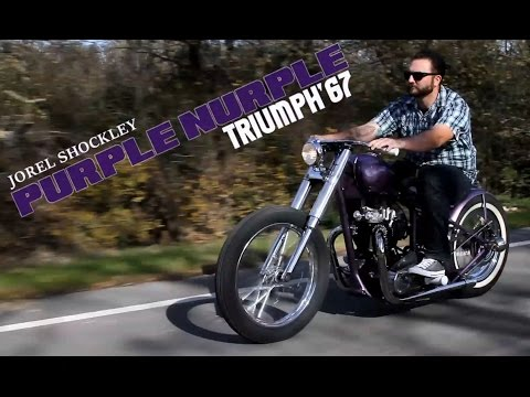 Teaser into PURPLE NURPLE Shockley Kustoms 67 Triumph