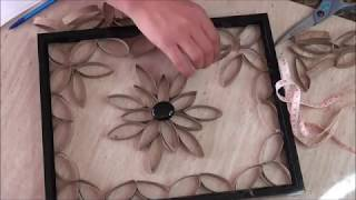 Recycled Paper Roll Wall Art - DIY Craft