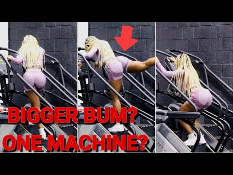 HOW TO GET A BIGGER BUM WITH ONE MACHINE | Stairmaster Edition