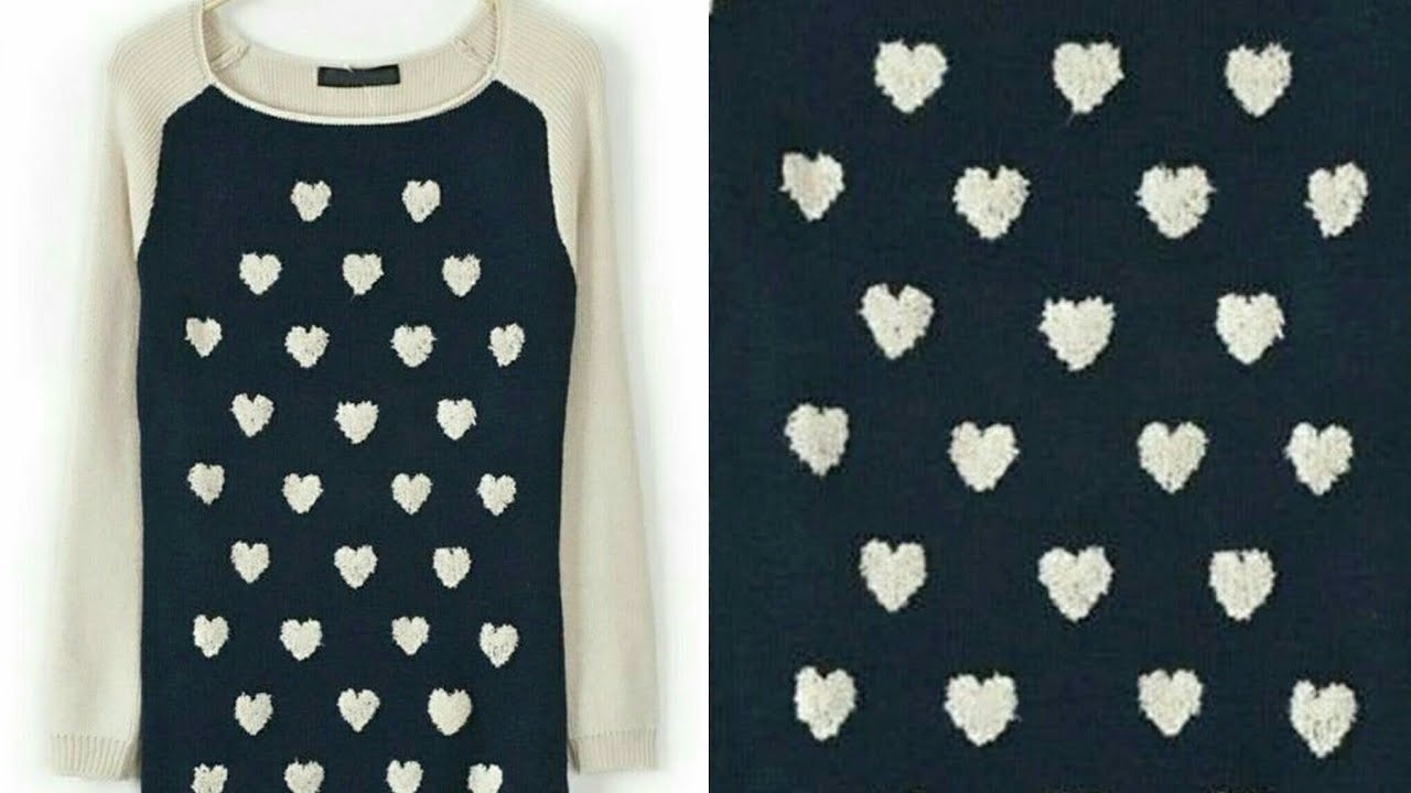 b98a2ce393a9 Party wear Sweater Hearts Design Requested Video Sweatshirts Design Design -93
