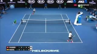 Roger Federer Unreal Point vs Rafael Nadal - Australian Open 2017 Final (HD)
