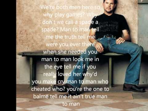 Man To Man with lyrics