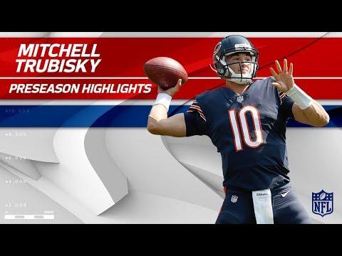 Mitchell Trubisky Preseason Highlights | Bears Announce Rookie QB to Start | NFL Highlights