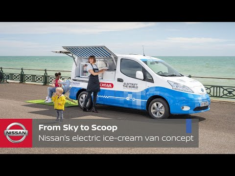 Nissan unveils a solar-powered, zero-emissions ice cream van