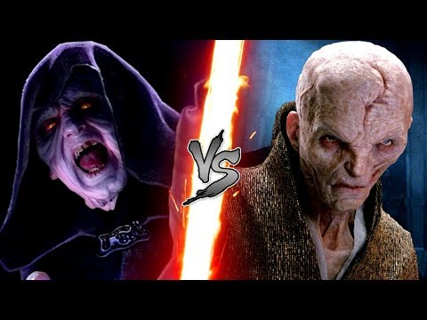 Darth Sidious vs Supreme Leader Snoke! - Who would win a fight? - Star Wars VERSUS series