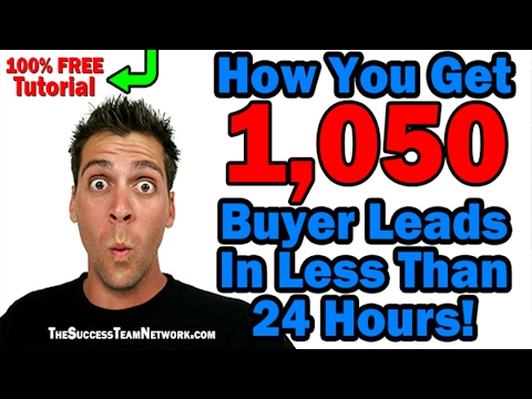 Get Free Leads Online - How I Got 1,050 Buyer Leads In Less Than 24 Hours!