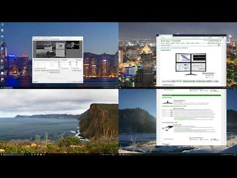 How to split one 4K monitor or TV into 4 virtual screens using UltraView Desktop Manager software